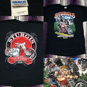 09 S Dakota Sturgis bike week t shirt Sz L exc con